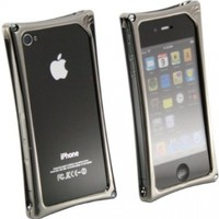 Wicked Metal Jacket WMJ2140 WMJ Alloy Case for iPhone 4 - 1 Pack - Retail Packaging - Black Chrome
