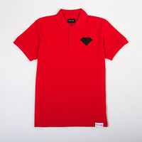 Diamond Supply Co. Emblem Men's Polo in Red (B13-C507-RED)