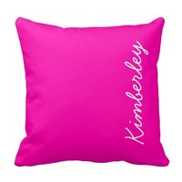 Colorful Pink Neon Monogram Trendy Fashion Colors