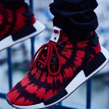 """""""Adidas"""" NMD Trending Fashion Casual Sports Sneakers Shoes Red"""