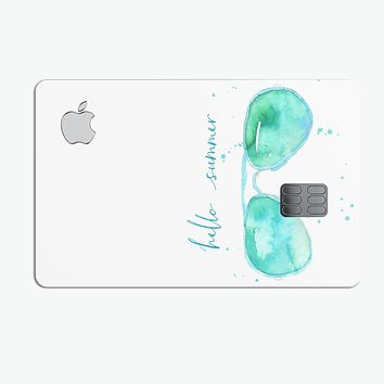 Hello Summer Sunglasses - Premium Protective Decal Skin-Kit for the Apple Credit Card