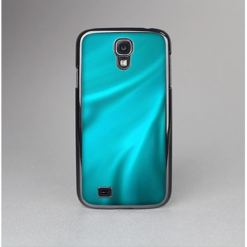 The Turquoise Blue Highlighted Fabric Skin-Sert Case for the Samsung Galaxy S4