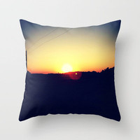 Summer Sets Throw Pillow by Josrick | Society6