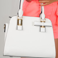 Love Somebody Purse: White