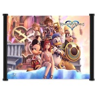 """1 X Kingdom Hearts 2 Game Fabric Wall Scroll Poster 21"""" X 16"""" Inches"""