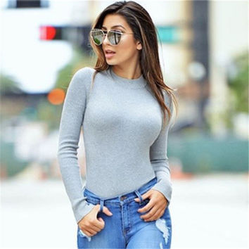 Winter Backless Long Sleeve Jumpsuit [9643029903]