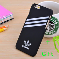2015 Hot Luxury I5 I6 6p Sport Brand Adis Logo Protective Cases Hard Slim Plastic Back Cover For iphone 6 6p 5S + GIft stents