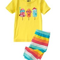Popsicle Two-Piece Shortie Pajama Set