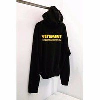 NEW High Quality Summer kanye west 18ss Vetements Hoodie Pullover Metallverarbeitung Letter Printing Top Men Women Sweatshirts