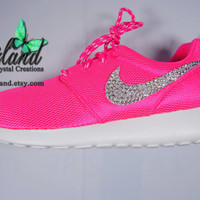 Blinged Preschool Nike Roshe Run Hyper Pink