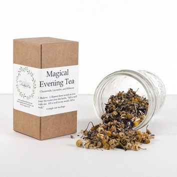 Organic Tea Blend - Herbal Tea - Magical Tea - Magical Evening Tea, Tea Gift, Relax, Chamomile, Hibiscus, Lavender, Magic Tea