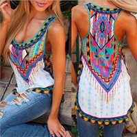 Stylish Aztec Print Plus Size Trendy Tank Top