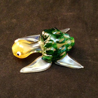 Underwater Green Color Changing Glass Pipe - READY TO SHIP