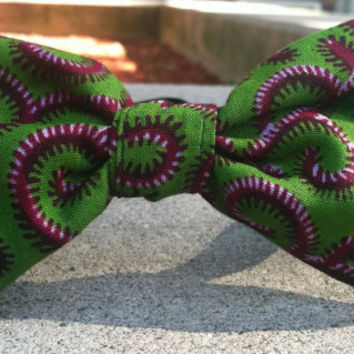 Green and Red Swirl Men's/Boy's Bow Tie