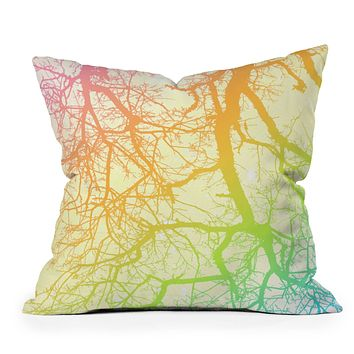 Shannon Clark Bright Branches Throw Pillow