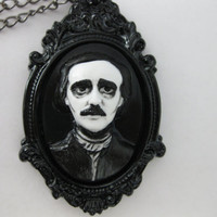 Edgar Allan Poe Cameo Necklace - Macabre