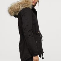 Pile-lined Parka - Black - Ladies | H&M US