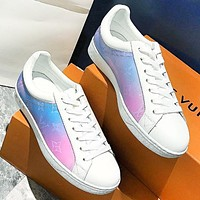 LV Fashion New Monogram Print Sports Leisure Shoes Women