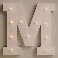 White M LED Battery Operated Marquee Light