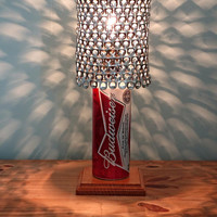 Giant 24 oz Budweiser Beer Can Lamp With Pull Tab Lampshade - The Mancave Essential