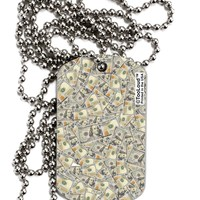 Benjamins Adult Dog Tag Chain Necklace by TooLoud