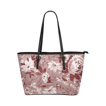 Tote Bags, Rose Red and Black Floral Style Tote Bags