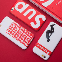 Red supreme mobile phone case for iphone 7 7plus 8 8plus X 5 5s SE 6 6s 6 plus 6s plus + Nice gift box 71501
