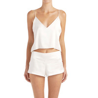 Zillah Cropped Camisole - White