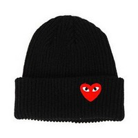 2017 Winter woman warm hats Heart Eyes Cartoon Label Beanies Knit Hat Toucas Bonnet Hats man hat Crochet Cap Skullies Gorros