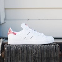 Adidas Women Stan Smith white footwear white collegiate red