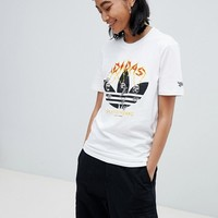 adidas Skateboarding Oversized T-Shirt With Printed Trefoil at asos.com