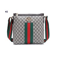 GUCCI hot seller of fashionable printed stripe ladies casual shopping bag with one shoulder bag #2