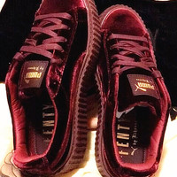 PUMA Women Casual Running Sport Shoes Sneakers Wine red