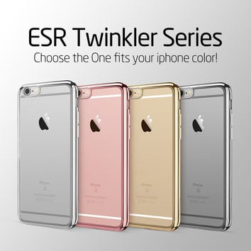 Twinkler Glossy Case Ultra Slim Light Weight Cover Soft TPU Back Protective Cover for iPhone 6/6s
