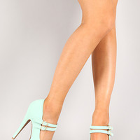 Qupid Penelope-134 Double Strap Mary Jane Pump