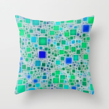 Ceramics Ocean Throw Pillow by Alice Gosling
