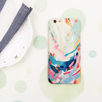 Multicolor Watercolours Plastic Iphone Case For Iphone 7 Se 5S 6 6S Plus Case Cover