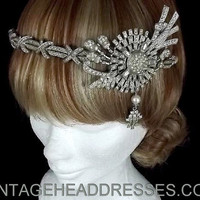 Great Gatsby Vintage 1920's Art Deco Flapper Headpiece