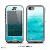 The Grungy Blue Watercolor Surface Skin for the iPhone 5c nüüd LifeProof Case