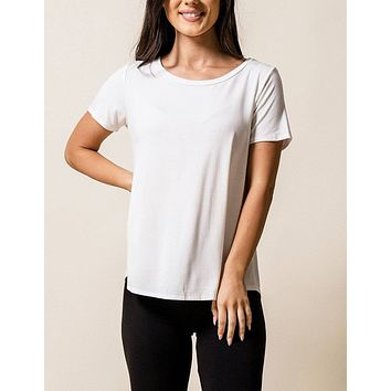 Bamboo Relaxed Tee - Ivory
