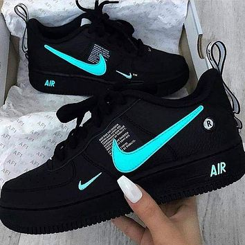 NIKE AIR FORCE 1 AF1 OW hot sale couple color matching casual sneakers
