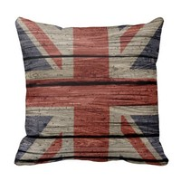 Awesome cool trendy old wood grunge U.k. Flag