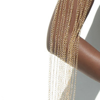 Gold Toned Arm Cuff / Arm Chain / Gold Jewelry / Gold Arm Jewelry
