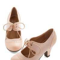ModCloth Vintage Inspired The Best of Times Heel in Petal