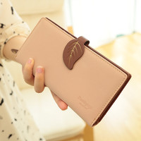 New Arrival Fashion Trendy Candy Color Women Wallets Retro Lace Hasp Solid Lady's Long Design Purse Youth Student Wallets