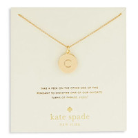 Kate Spade New York Engraved Letter C Pendant Necklace