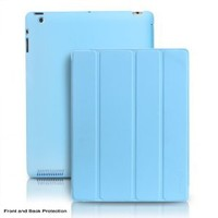 """Photive """"SlimPad"""" Blue iPad 3 Case - Ultra Slim Smart Cover Case for The New iPad & Ipad 2. Front and Back Protection (Built-in Magnets Activates Sleep/Wake feature) - Baby Blue"""