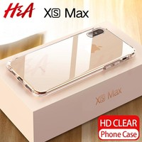 H&A Ultra Thin Transparent Case For Apple iPhone X XS Max XR Cases Clear Soft TPU Cover For iPhone XR XS Max Phone Case Capa