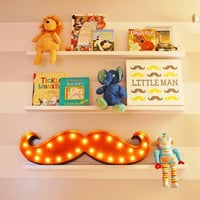 """36"""" Mustache - Vintage Inspired Marquee Light"""