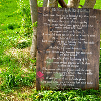 Wedding song/Poem wooden home decor free shipping